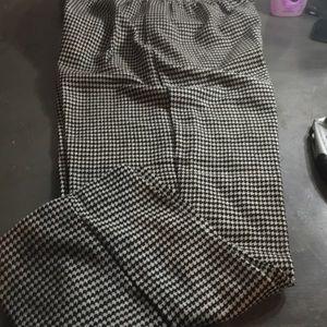 Vintage Blair white & black slacks 60's 70's look